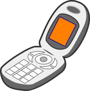 png royalty free library Cellphone clipart mobile device. Cell phone grey orange.
