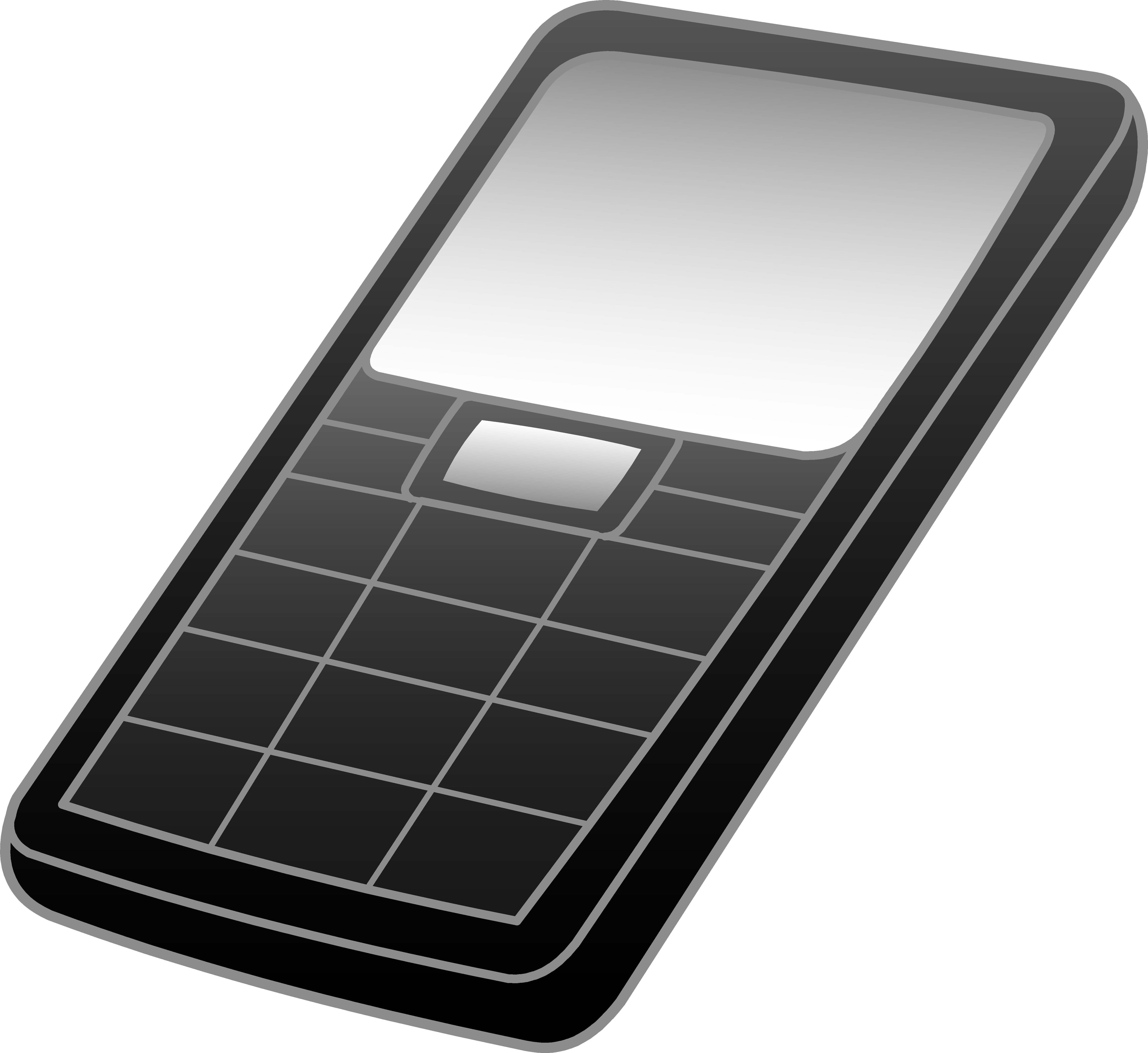 clip transparent stock Black and grey cell. Cells clipart cellular phone.