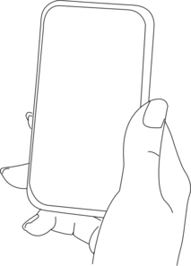 transparent stock With smartphone clip art. Cells clipart hand drawn.