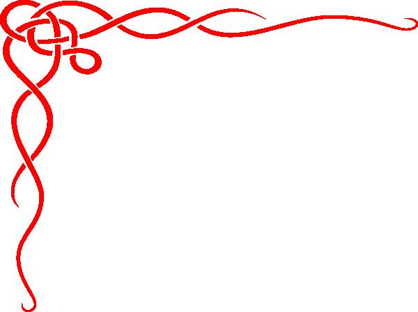 free Celtic borders clipart. Red border clip art