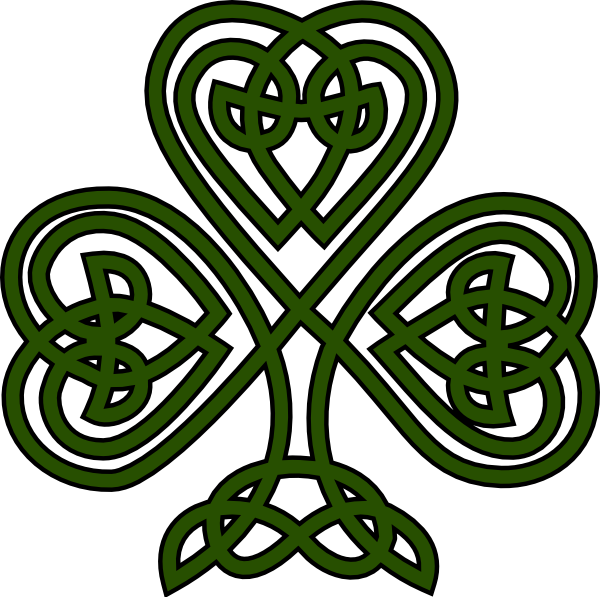 clipart Free irish fonts shamrock. Celtic clipart