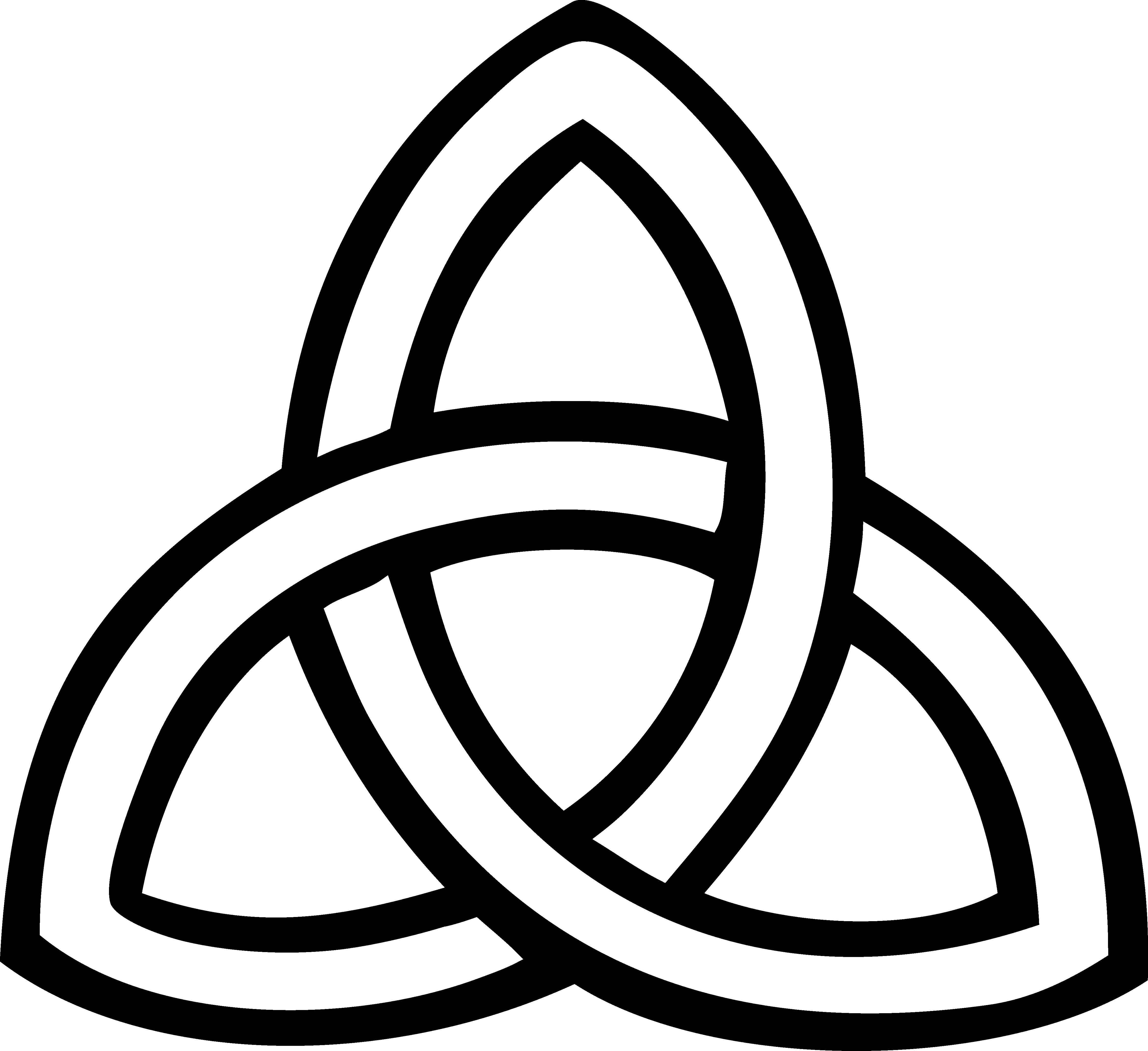 graphic Triquetra knot trinity clip. Celtic clipart celtic symbol.
