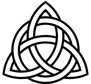banner black and white library Triquetra Tattoo Clip Art at Clker