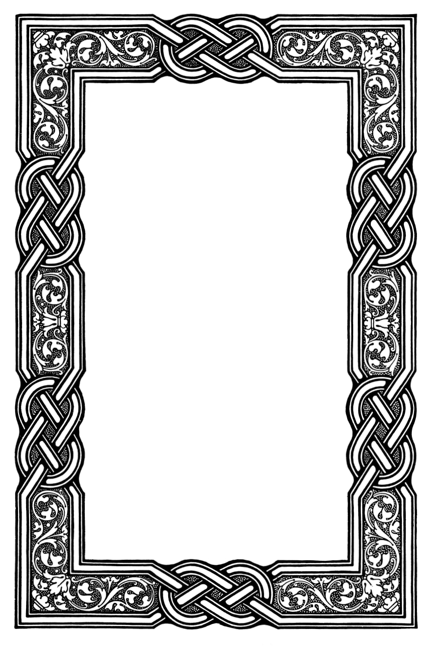 banner black and white download Free download clip art. Celtic borders clipart