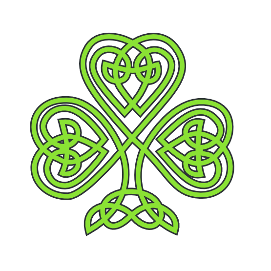 png free stock Celtic clipart green. Saint patricks day shamrock.