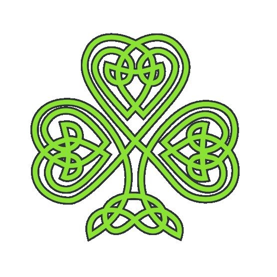 clip art free library saint patricks day celtic shamrock SVG
