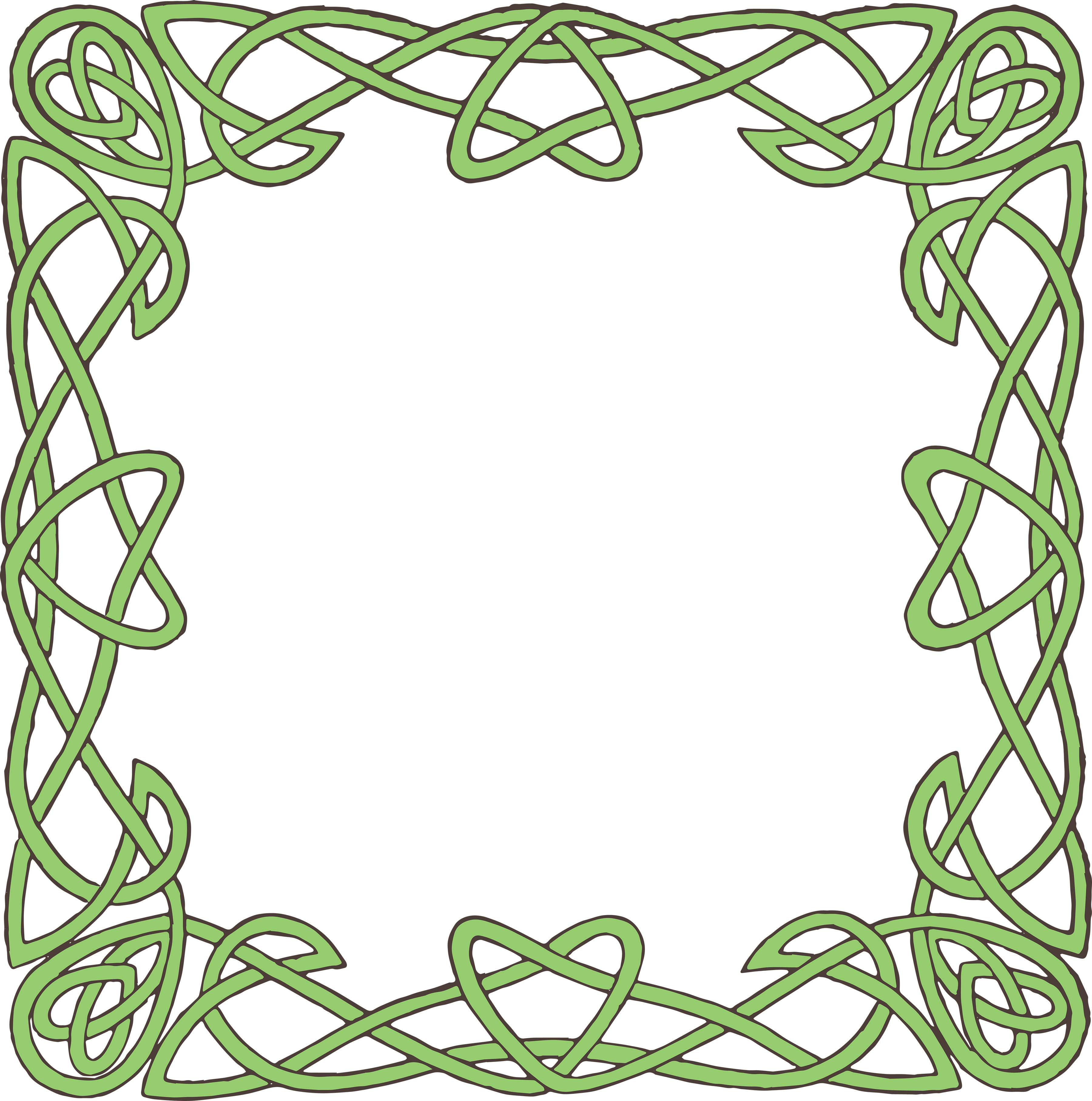 vector freeuse download Border printables free clip. Celtic clipart green.
