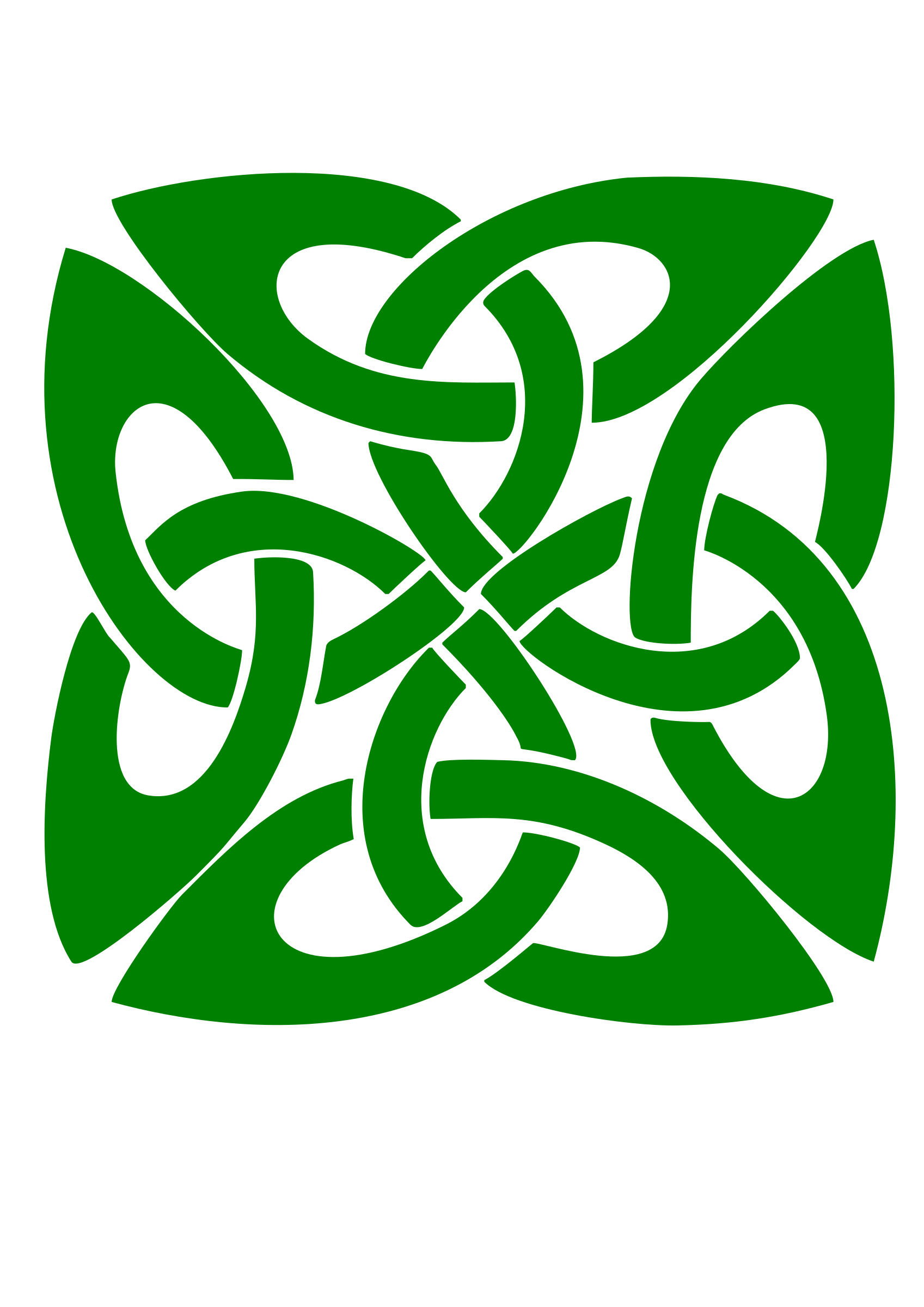 clip art freeuse library Knot big image png. Celtic clipart green.