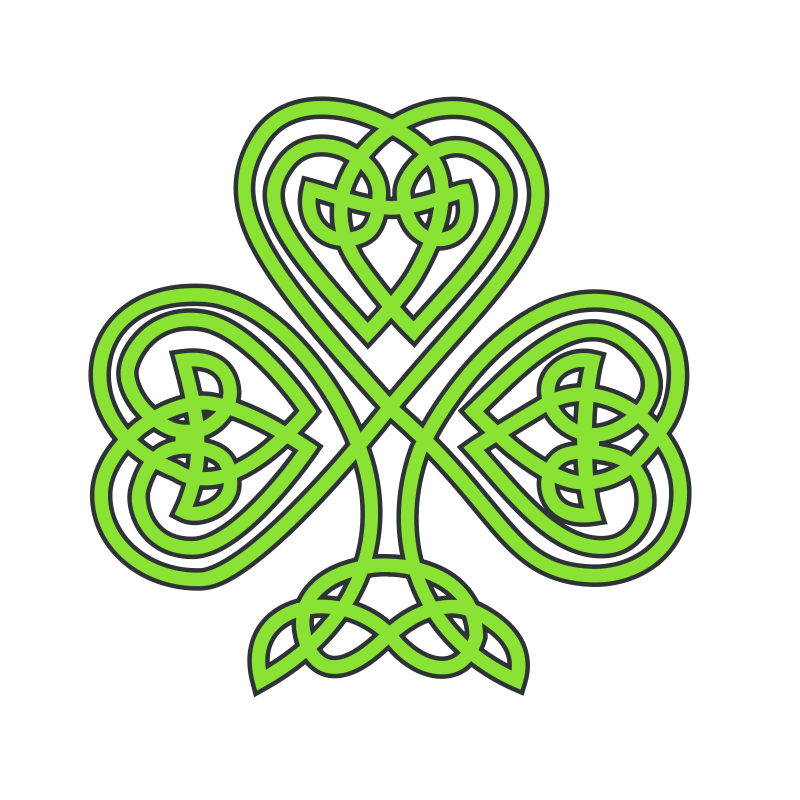 graphic transparent stock . Celtic clipart green.