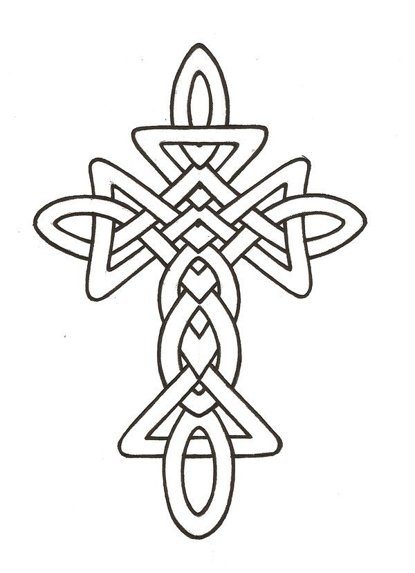 clip black and white stock Celtic clipart line. Cross drawing best .