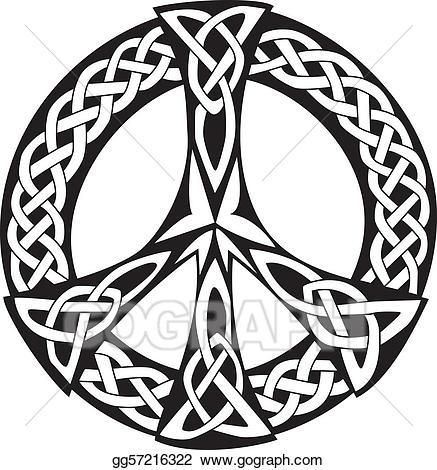 graphic freeuse Vector stock design symbol. Celtic clipart peace.