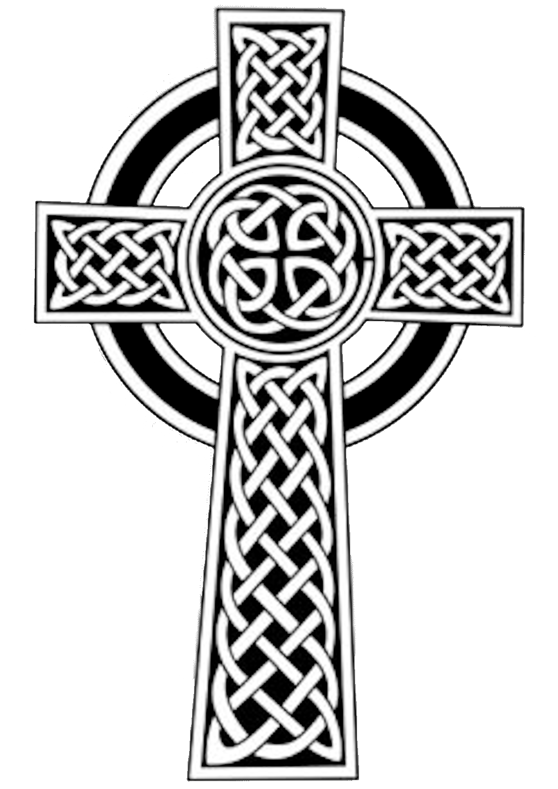 image transparent stock Free clip art image. Celtic cross clipart black and white