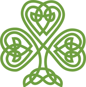 image black and white library Celtic Shamrock Clip Art at Clker