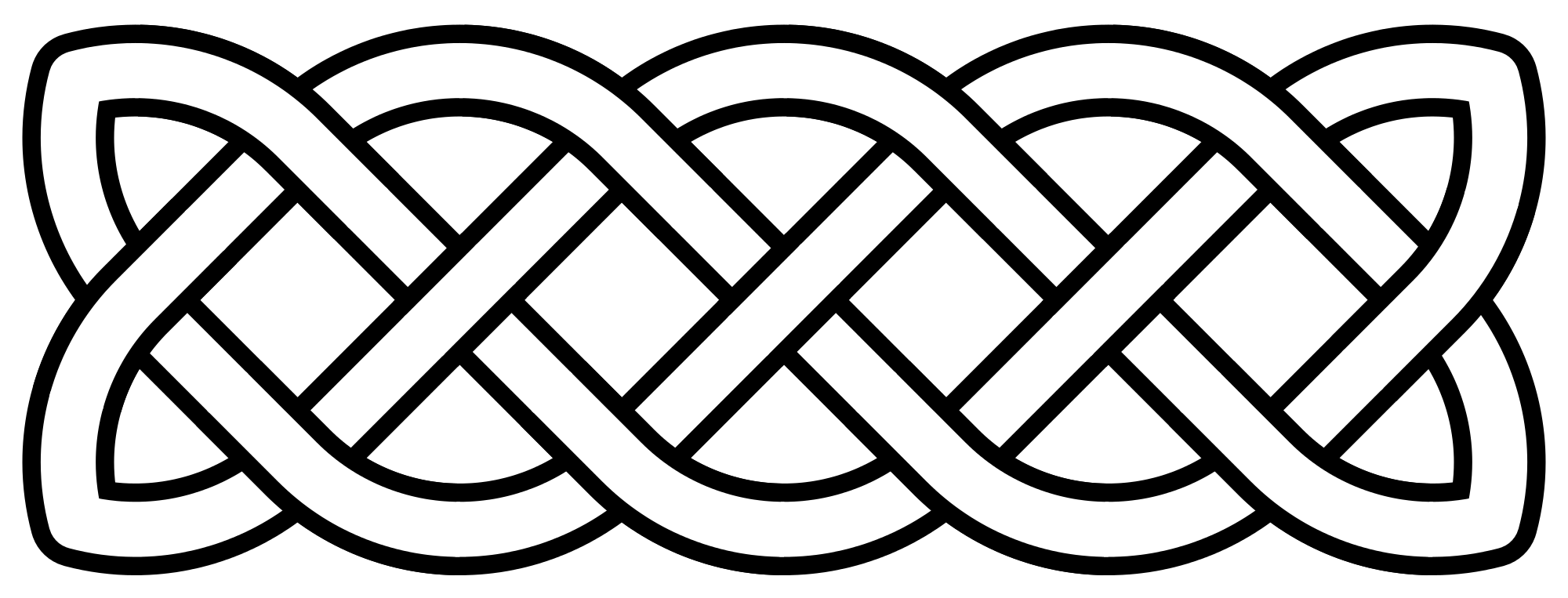 clipart black and white File knot basic linear. Celtic clipart vector.