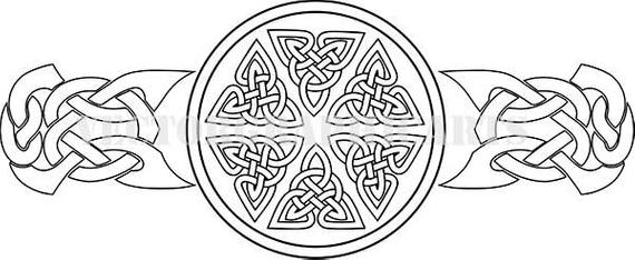 image black and white library Celtic clipart vector. Ornament for your design.