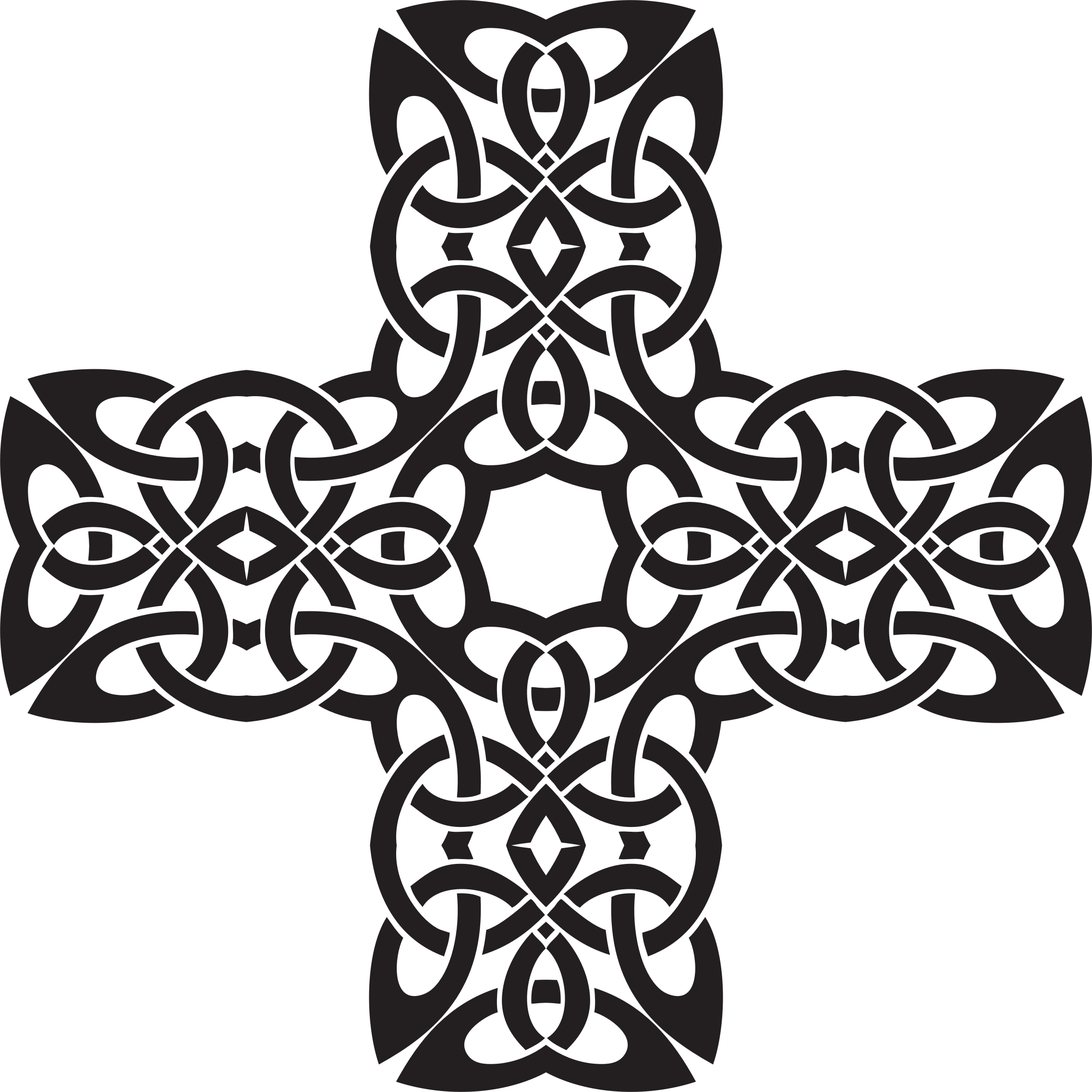 picture royalty free stock Celtic cross clipart black and white. Knot big image png