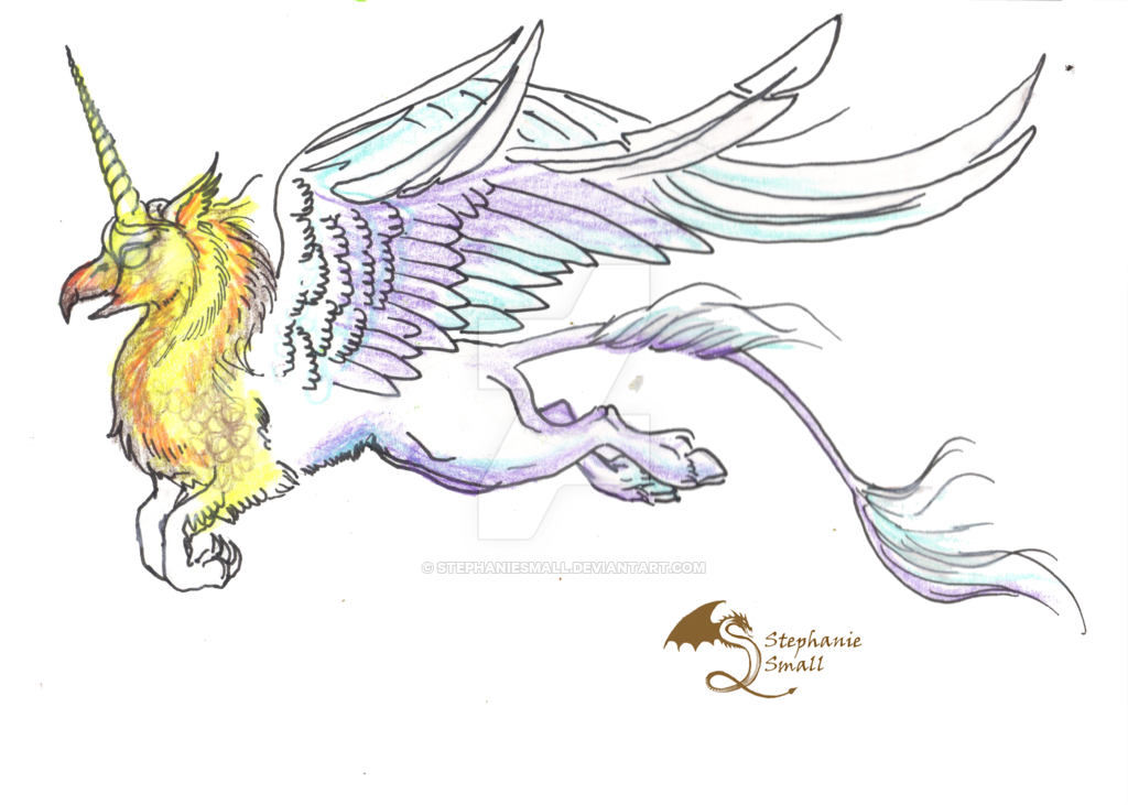 banner free Unicorn Griffon Hippogriff Gryphon Griffin by StephanieSmall on