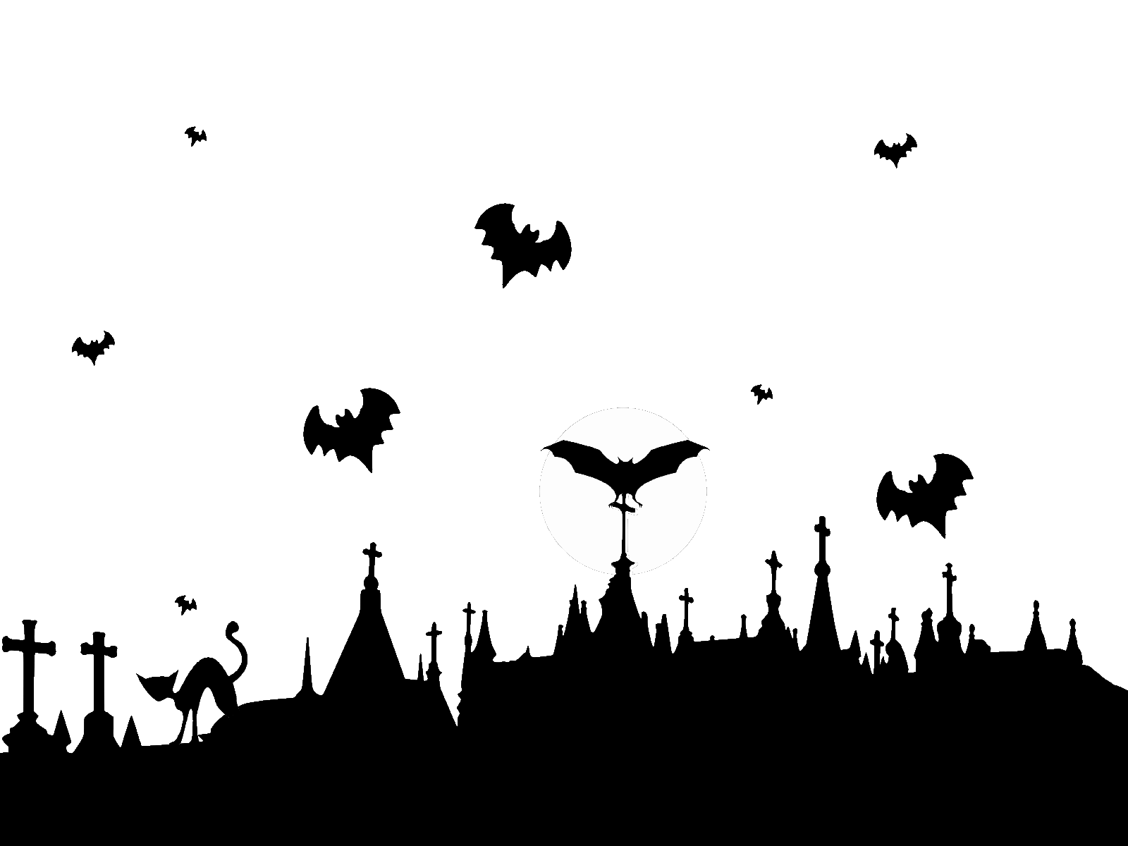 clipart transparent stock Graveyard and flying bats. Cemetery clipart background