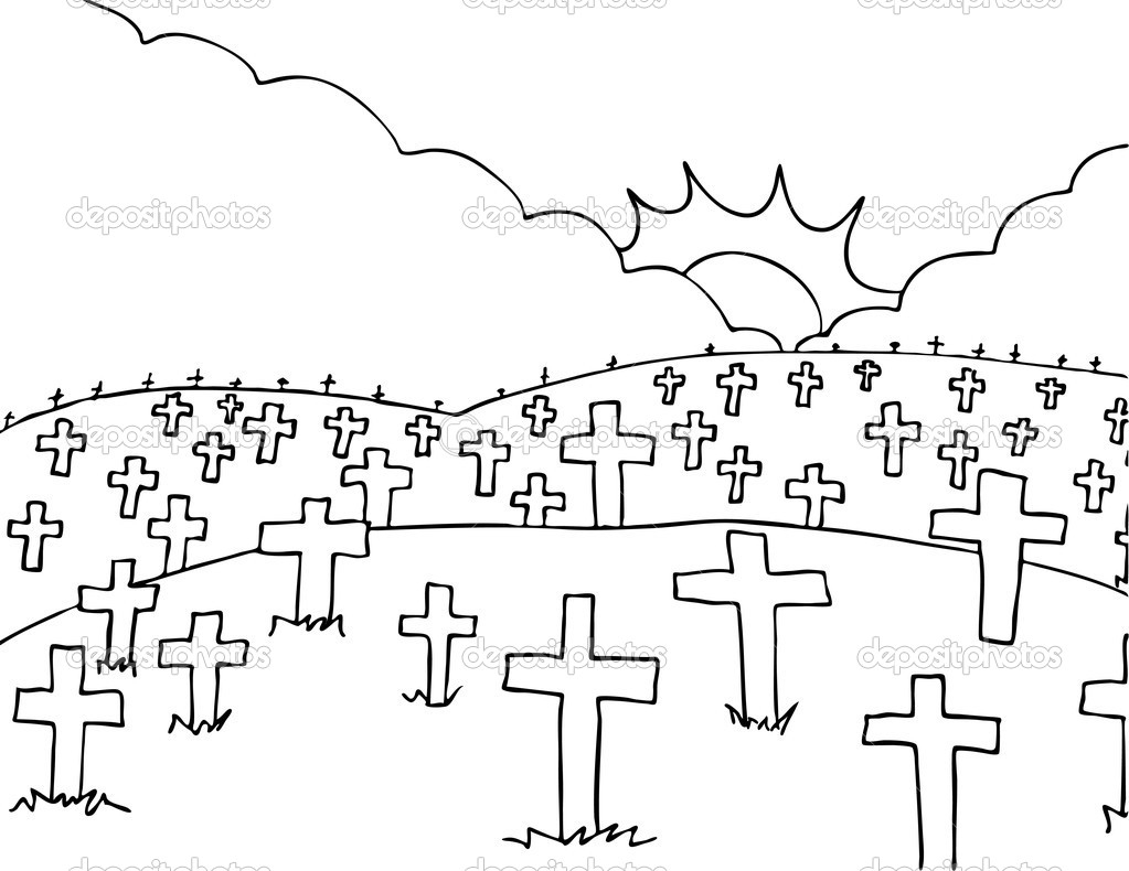clip art freeuse stock Awesome cemetery collection digital. Graveyard clipart black and white