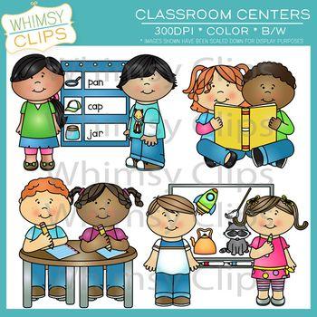 banner freeuse Center clipart classroom. Centers clip art set.