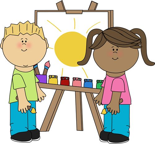 vector stock Center clipart painting. Free art class cliparts