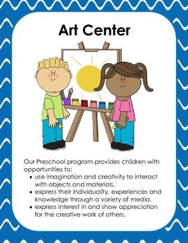 freeuse Preschool center signs . Centers clipart classroom activity.