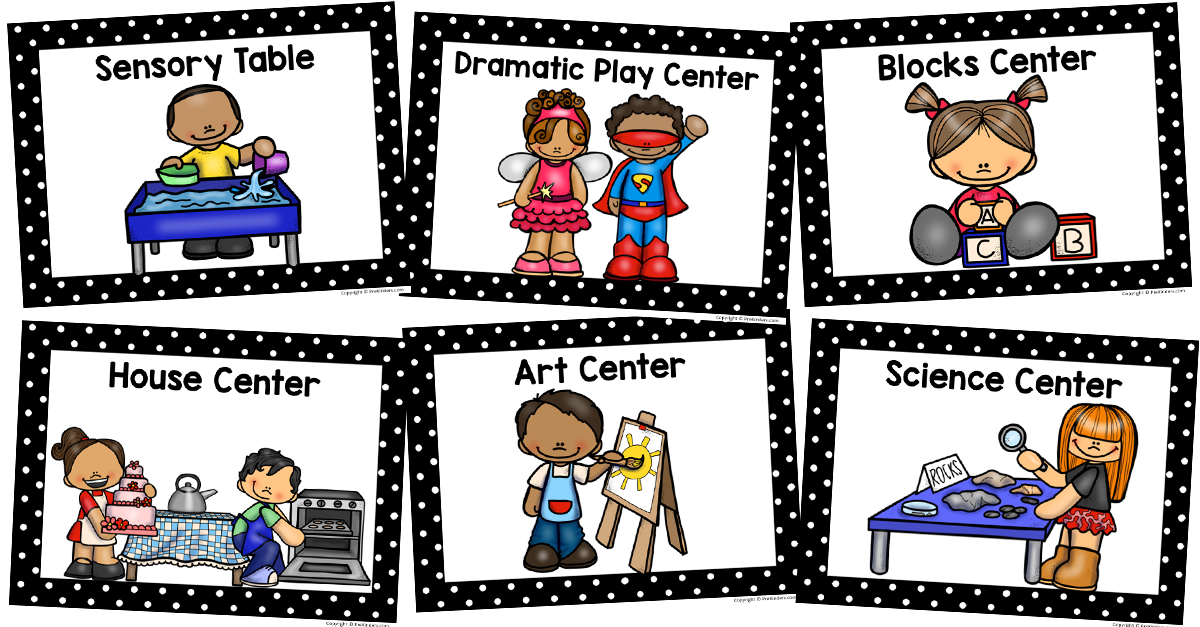 png stock Center signs prekinders . Centers clipart classroom activity.