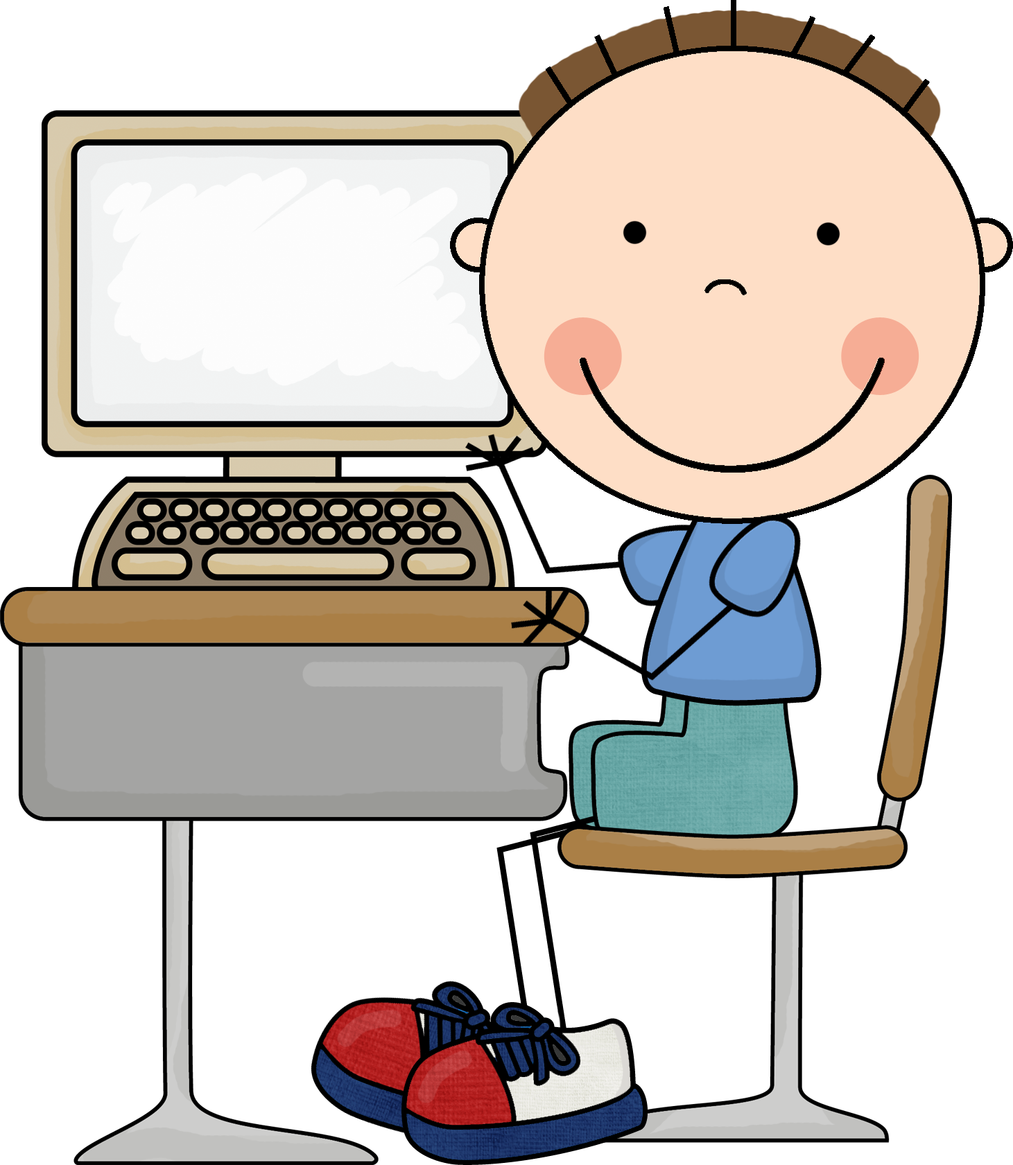 jpg freeuse stock  collection of computer. Centers clipart cute.