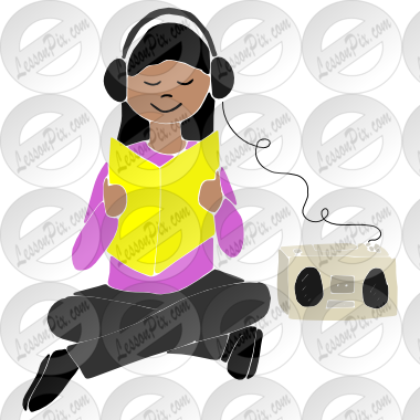 graphic free Headphones free on. Centers clipart listening center.
