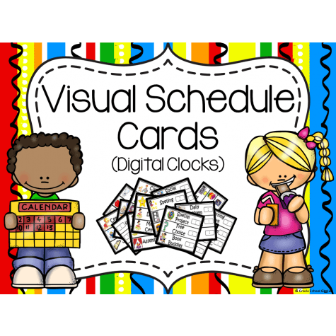 clipart library Visual calendar schedule cards. Chart clipart pocket chart