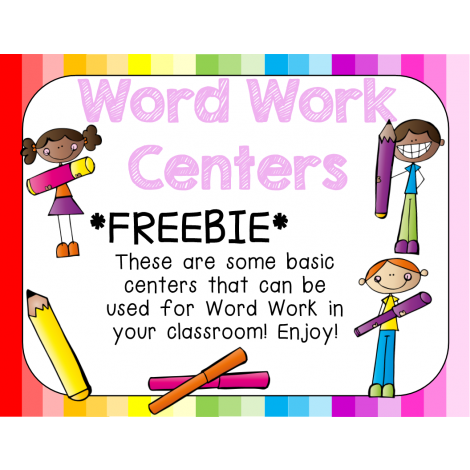 svg Centers clipart word study. Free work building words.