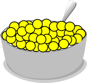 banner royalty free stock Bowl of yellow clip. Cereal clipart