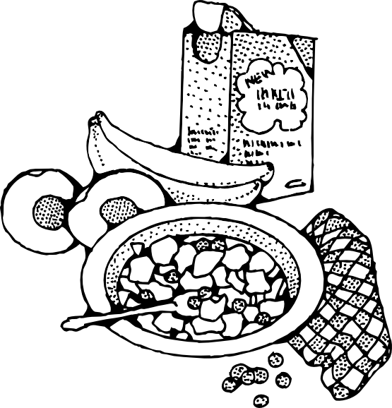 clip royalty free library Clipartist net clip art. Breakfast clipart black and white