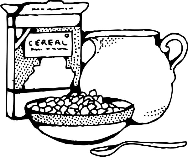 banner royalty free library Cereal box clip art. Milk black and white clipart