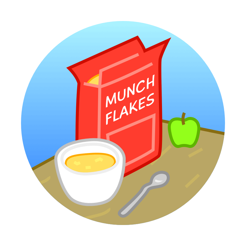 vector royalty free stock Sparks play care. Cereal clipart breakfast club.