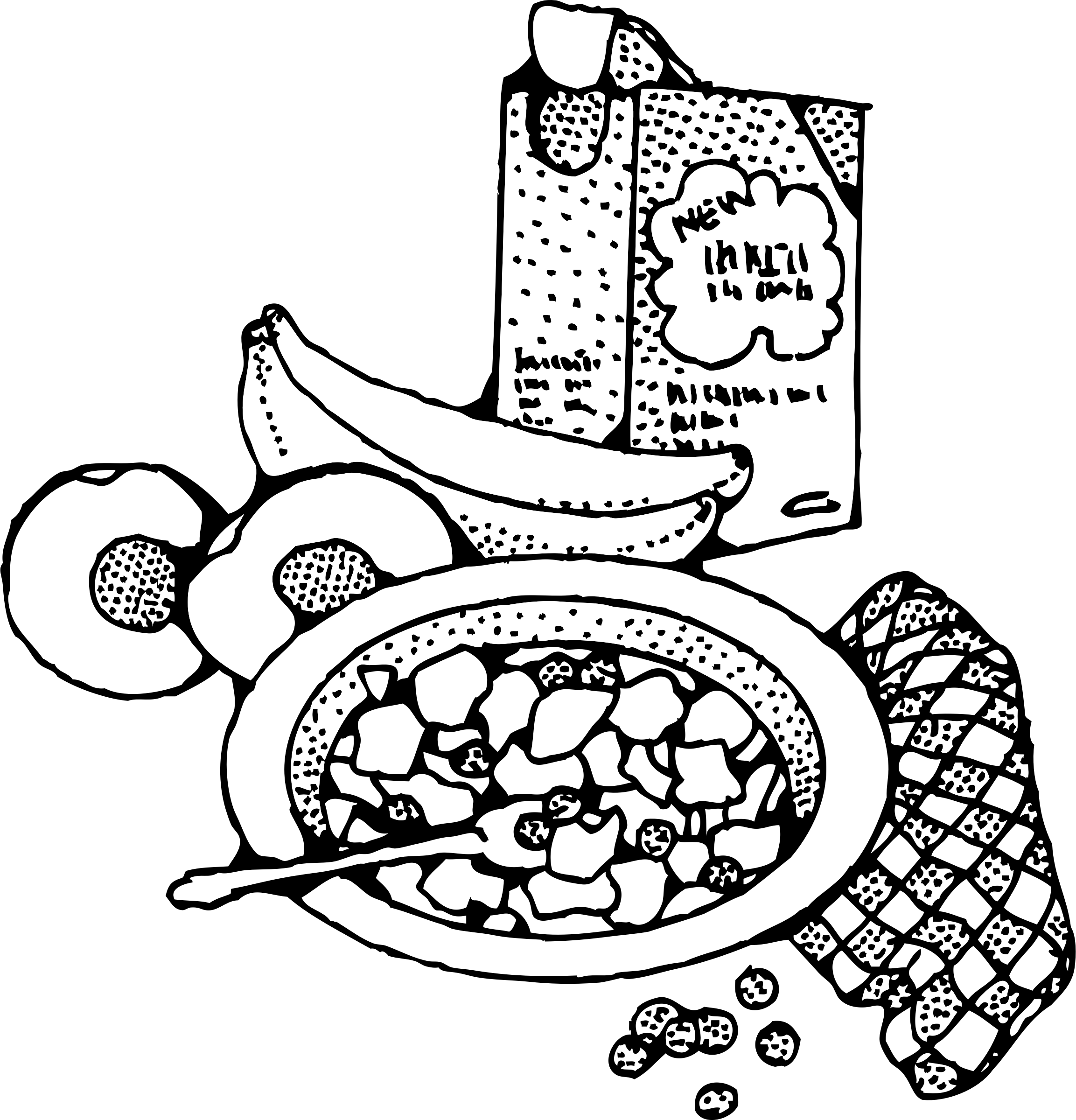 jpg transparent download Cereal clipart breakfast time. With big image png.