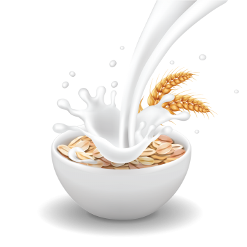 png black and white library Healthy png vectors psd. Cereal clipart breakfast tray.