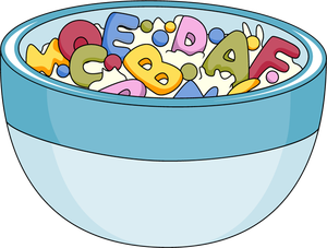 clip art black and white library Cereal clipart breakfast tray. Clip art of foods.