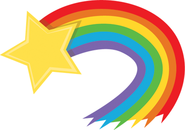 svg library stock Cereal clipart rainbow. Shooting star free on