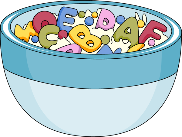 clip royalty free download Cereal clipart teacher. Alpha bits activity give.