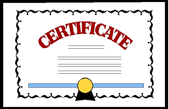 image library Certificate clipart. Free download on webstockreview