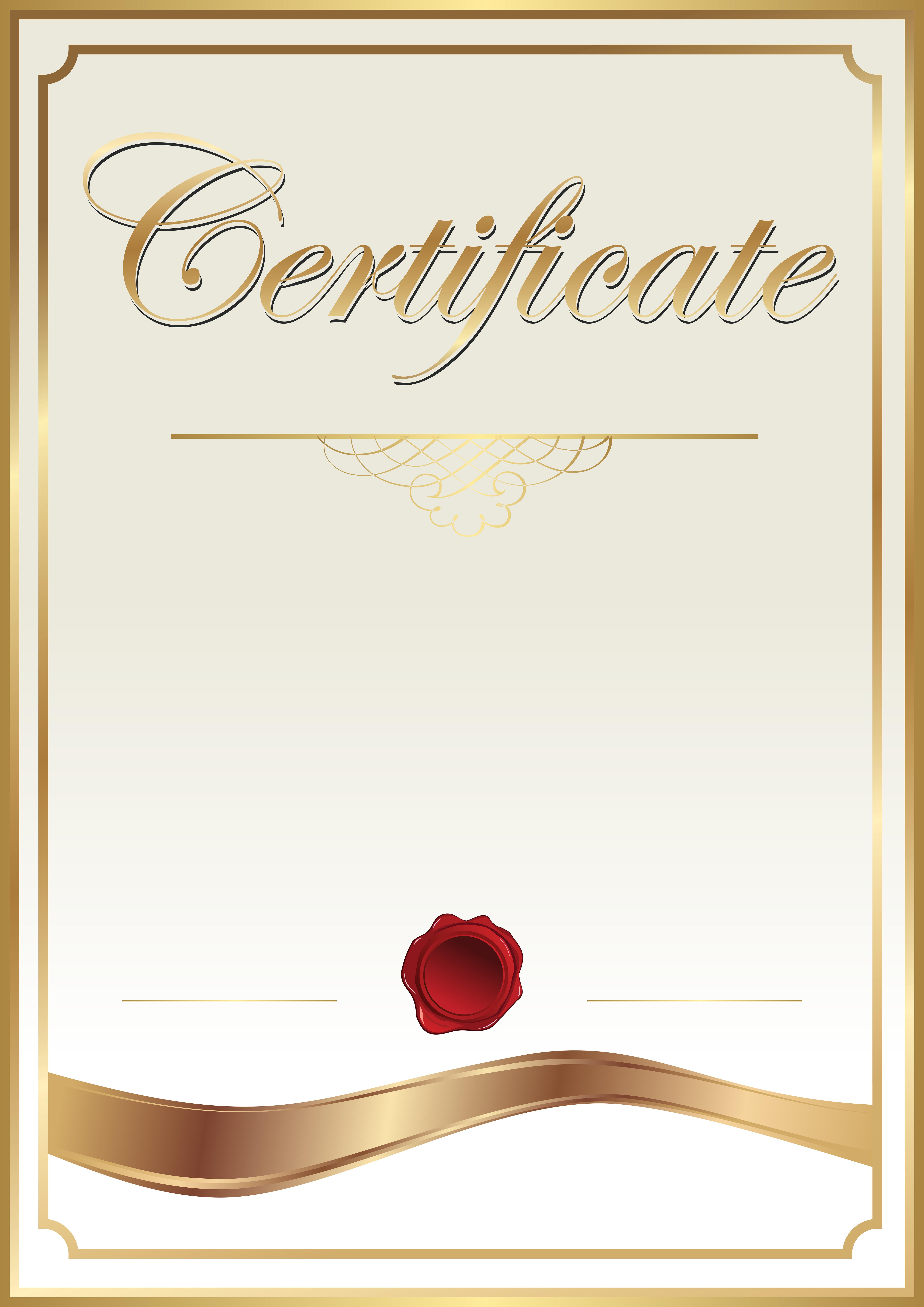 png transparent Template clip art png. Certificate clipart.