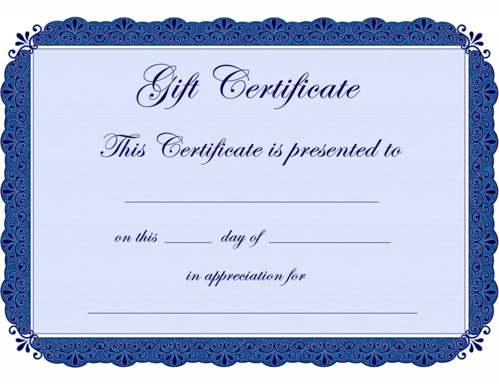 clipart black and white library Free printable gift certificates. Certificate clipart certification.