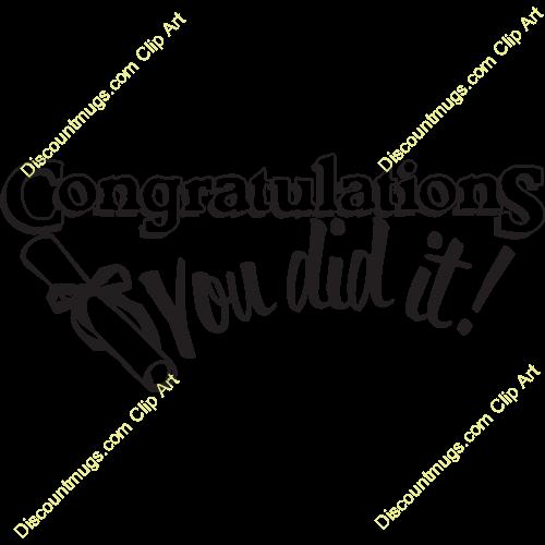 svg black and white Congratulations you did it. Certificate clipart congratulation.