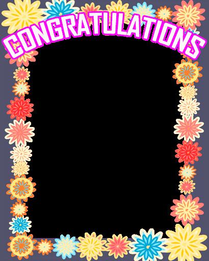 image transparent library Certificate clipart congratulation. Congratulations photo frame free.