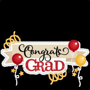 banner stock Certificate clipart congratulation. Congrats grad title miss.