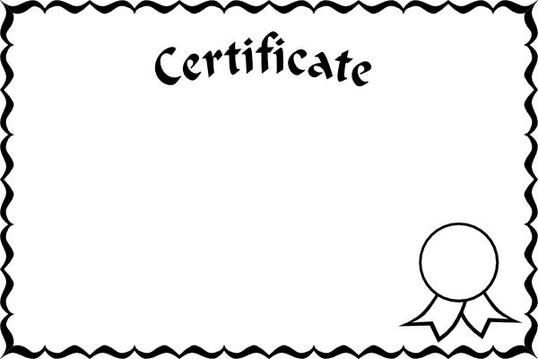clip art library stock Certificate frame clip art. Cliff clipart black and white.