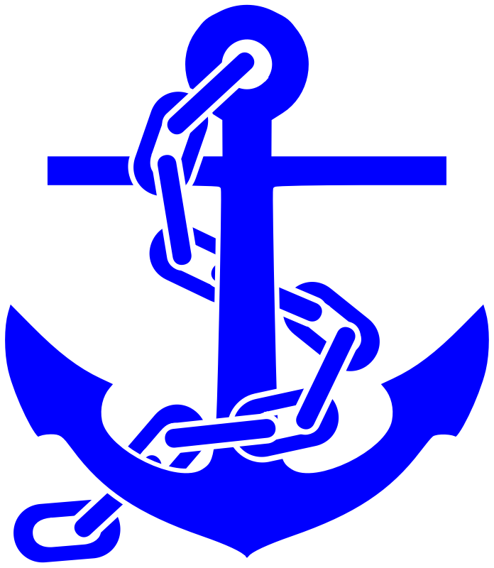 picture royalty free Fouled anchor medium image. Chain clipart svg.