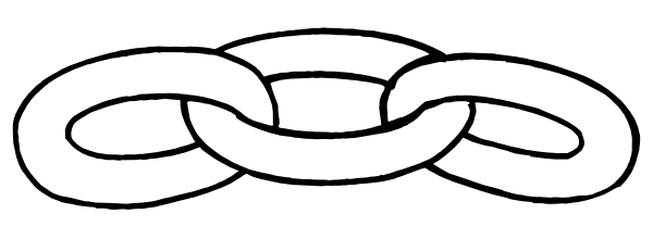 vector black and white Chain Link Outline Clip Art at Clker