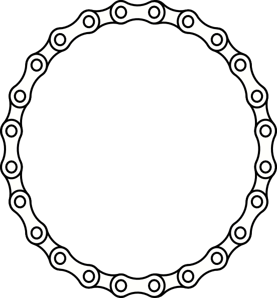 vector transparent Bike Chain Link Clipart